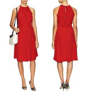 Kate Spade Red Fluid Crepe Tie Back Dress Sz 0